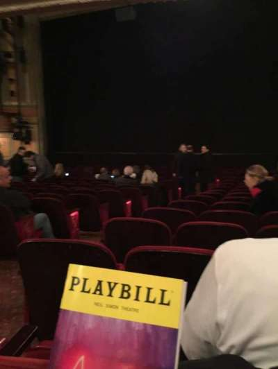 Neil Simon Theatre section Orchestra R