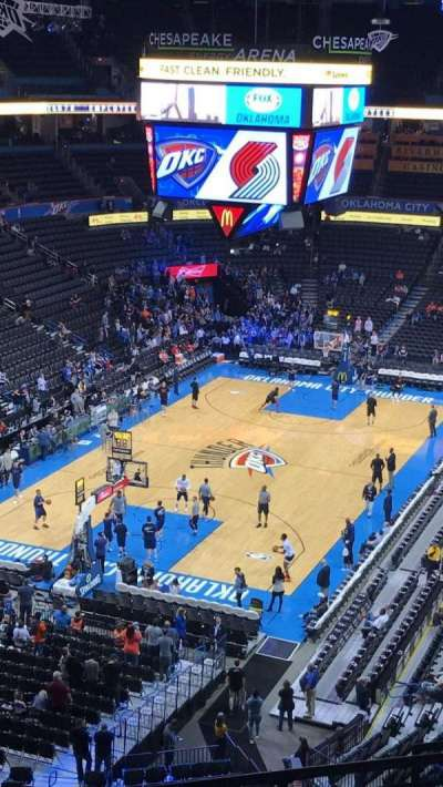 Chesapeake Energy Arena, section: 314, row: G, seat: 9-10