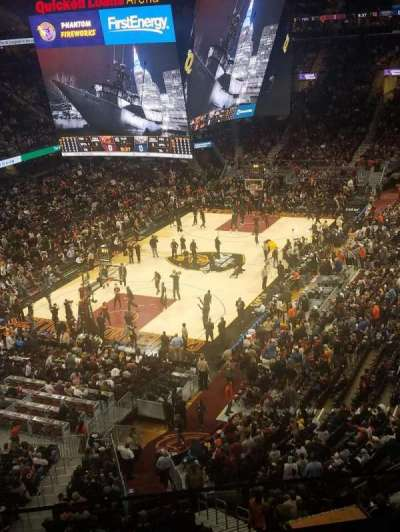 Quicken Loans Arena, section: 220, row: 2, seat: 6