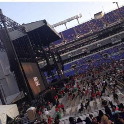 M&T Bank Stadium, section: 102, row: 16W, seat: 2
