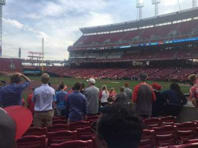 Great American Ball Park, section: 114, row: I, seat: 8
