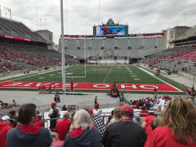 Ohio Stadium, section: 3a, row: 8, seat: 10