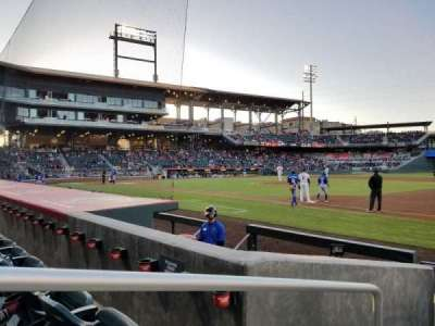 Southwest University Park, section: 105, row: G, seat: 20