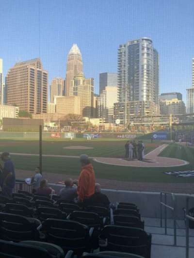 BB&T Ballpark (Charlotte), section: 113, row: H, seat: 1