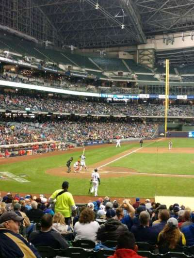 Miller Park, section: 114, row: 10, seat: 5