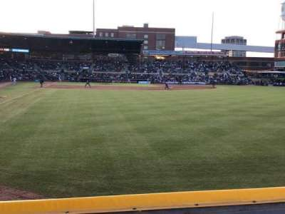 Durham Bulls Athletic Park, section: 124, row: A, seat: 3