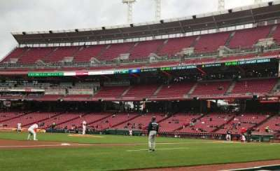 Great American Ball Park, section: 114, row: B, seat: 7