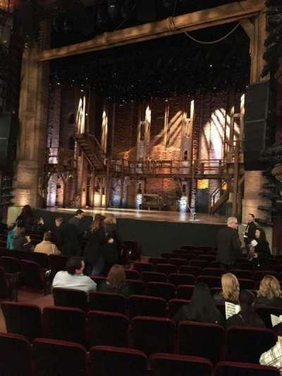 CIBC Theatre, section: Orchestra R, row: Q, seat: 12