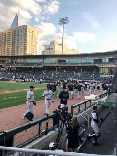 BB&T Ballpark (Charlotte), section: 117, row: B, seat: 1