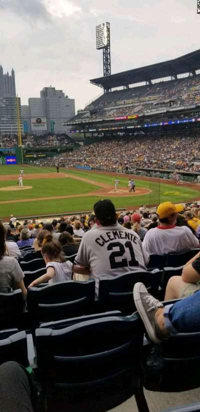 PNC Park, section: 121, row: u, seat: 16