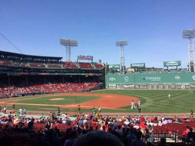 Fenway Park, section: Grandstand 13, row: 1, seat: 8