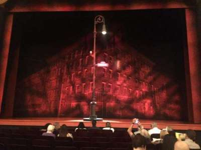 Longacre Theatre, section: orchestra, row: J, seat: 107