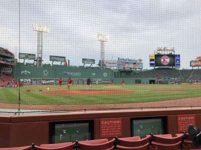 Fenway Park, section: Field Box 42, row: A, seat: 1