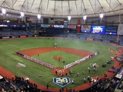 Tropicana Field, section: 301, row: C, seat: R