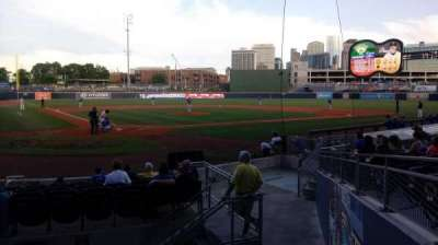 First Tennessee Park, section: 114, row: N, seat: 1-2