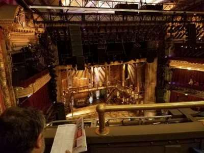 CIBC Theatre, section: Balc-L, row: B, seat: 1