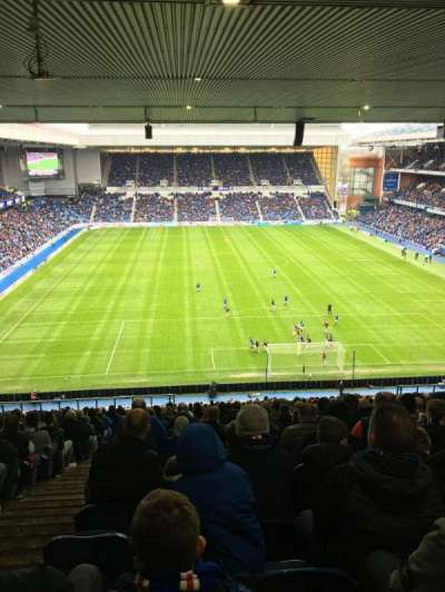 Ibrox Stadium, section: BR4, row: Dd, seat: 110