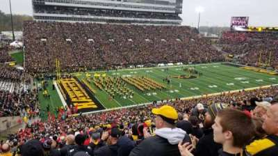 Kinnick Stadium, section: 110, row: 72, seat: 15