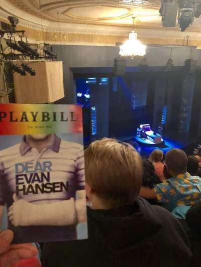 Music Box Theatre, section: Mezzanine, row: J, seat: 25