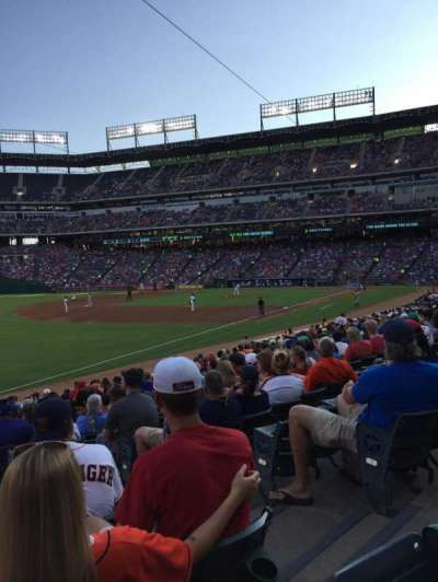 Globe Life Park in Arlington, section: 13, row: 18, seat: 4