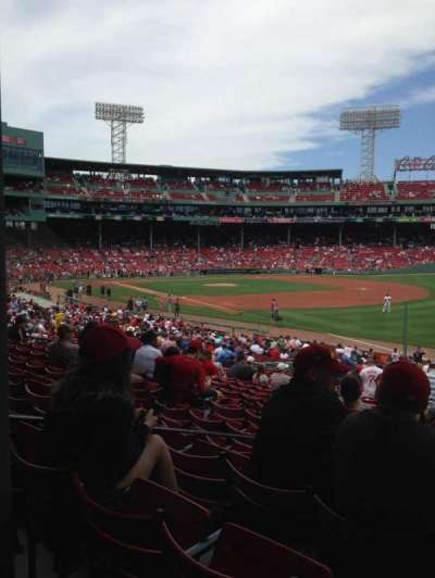 Fenway Park, section: Grandstand 9, row: 1, seat: 8