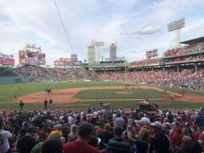 Fenway Park, section: Infield Grandstand 25, row: 1, seat: 19