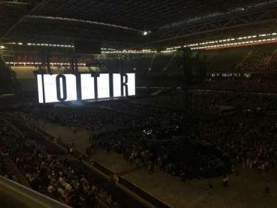 Principality Stadium, section: U25, row: 1, seat: 6