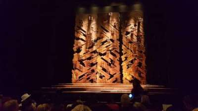 Pantages Theatre (Hollywood), section: ORCHC, row: F, seat: 106
