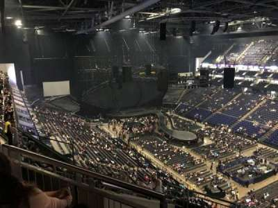 The O2 Arena, section: 407, row: J, seat: 617