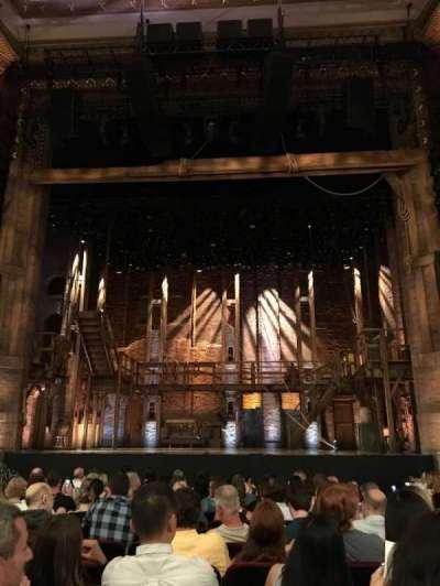 CIBC theatre , section: Orchestra C, row: P, seat: 109