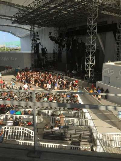 Daily's Place, section: C1, row: B, seat: 6