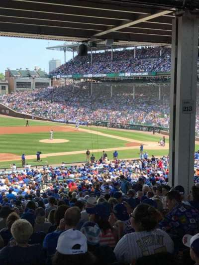 Wrigley Field, section: 211, row: 16, seat: 10