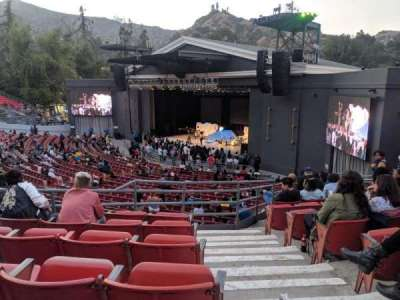 The Greek Theatre, section: South Terrace, row: D, seat: 20
