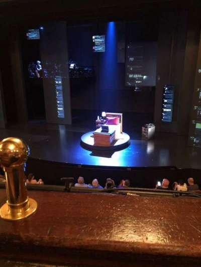 Music Box Theatre, section: Mezzanine, row: A, seat: 2-4