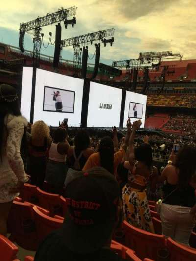 Fedex Field Section 142 Row 20 Seat 4