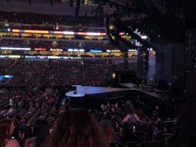 American Airlines center , section: 105, row: P, seat: 4