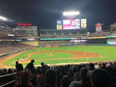 Target Field, section: 109, row: 22, seat: 23