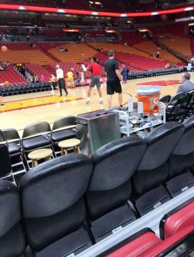 American Airlines Arena, section: 108, row: 2