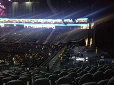 T-Mobile Arena, section: 18, row: M, seat: 6