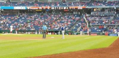 Nationals Park, section: 111, row: a, seat: 1