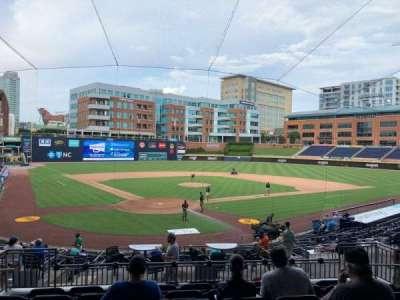Durham Bulls Athletic Park, section: 202, row: S, seat: 7