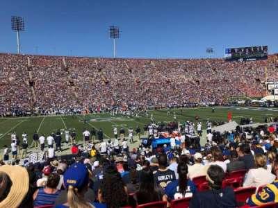 Los Angeles Memorial Coliseum section 107B