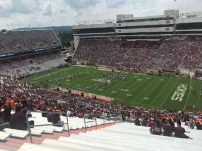 Lane Stadium, section: 23, row: 5J, seat: 10