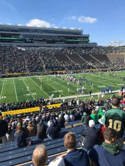 Notre Dame Stadium section 12