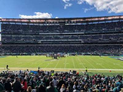 Lincoln Financial Field section 121