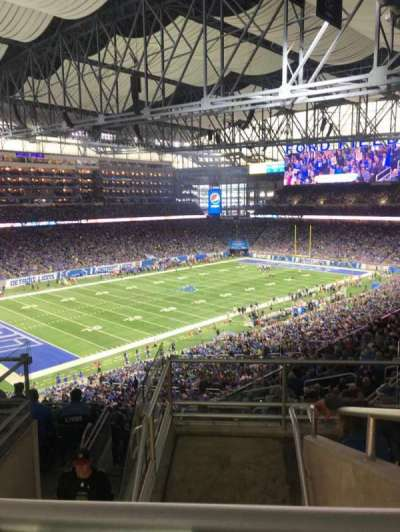 Ford field , section: 325, row: 6, seat: 8