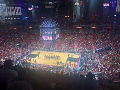 American Airlines Arena, section: 307, row: 12, seat: 10