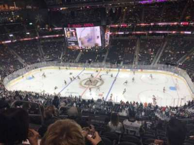 T-Mobile Arena, section: 207, row: L, seat: 6