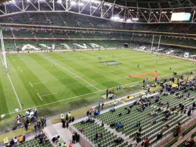 Aviva Stadium, section: 529, row: A