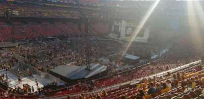 Fedex Field Section 327 Row M Seat 18